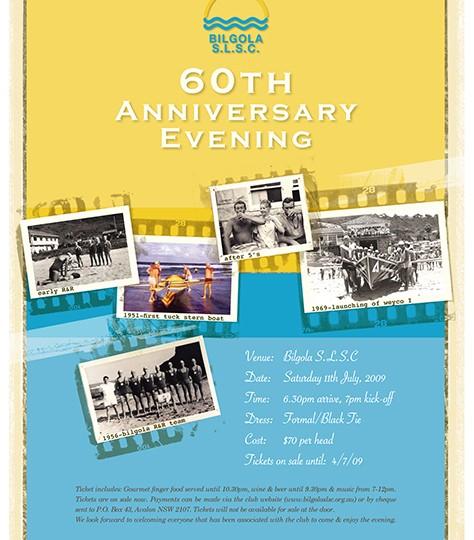 Bilgola SLSC_60th Anniversary dinner poster