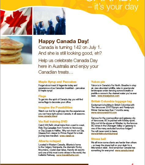 Canadian Tourism Commission_Canada Day flyer