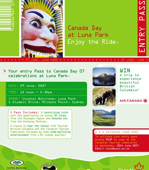 Canadian Tourism Commission_Canada day invite