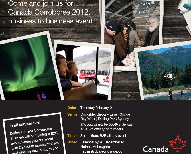 Canadian Tourism Commission_Corroboree B2B Invite