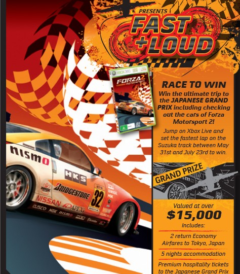 XBox 360_Forza 2 Fast & Loud Flyer