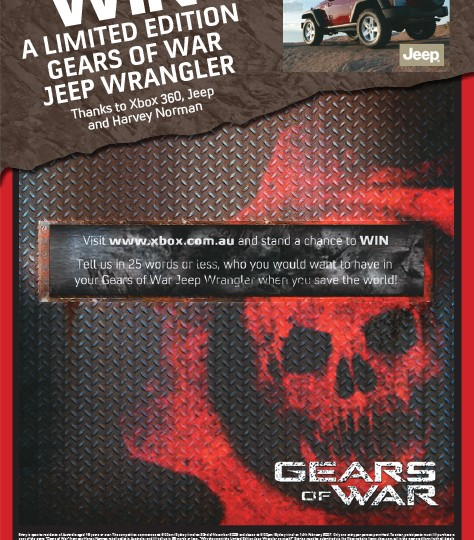 Xbox 360_GOW Jeep Promo Poster
