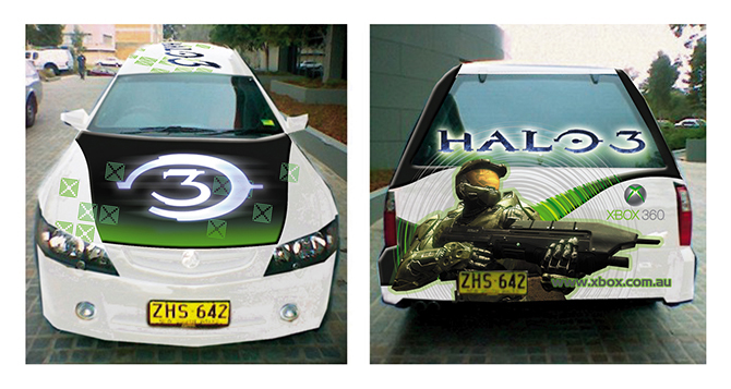 Xbox 360_Halo 3 Promotional Ute design_2